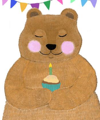 Fødselsdagskort med Tjugga