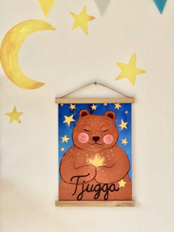 Plakatsæt Lille plakat 297 x 420 mm (A3) Tjugga og kærlighedsblomsterne