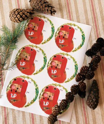 Julegavemærker med Tjugga og Sally
