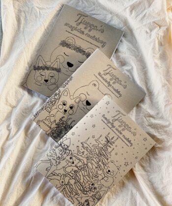 Tjugga malebøger - Sæt med tre malebøger