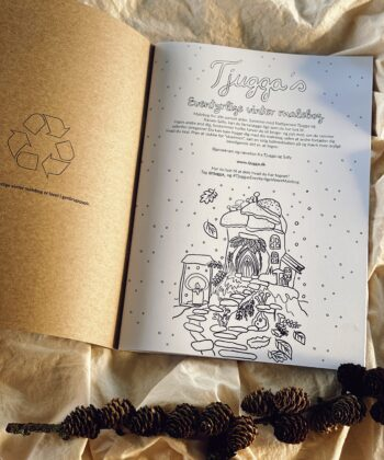 Tjugga´s eventyrlige vintervmalebog beskrivelse